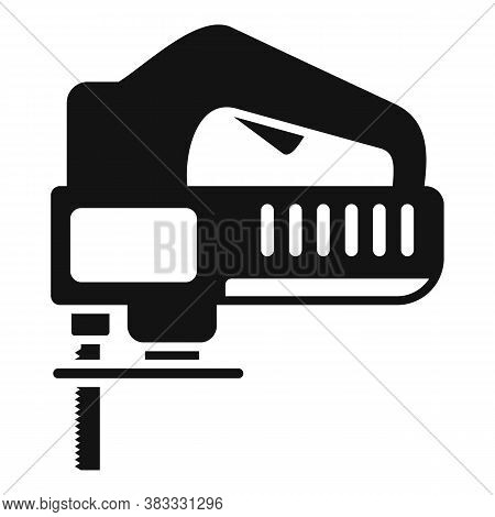 Electric Jigsaw Icon. Simple Illustration Of Electric Jigsaw Vector Icon For Web Design Isolated On