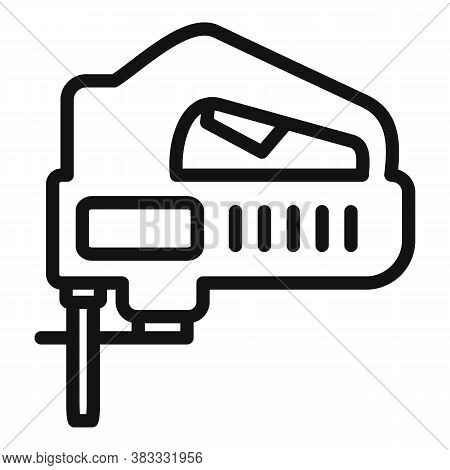 Electric Jigsaw Icon. Outline Electric Jigsaw Vector Icon For Web Design Isolated On White Backgroun