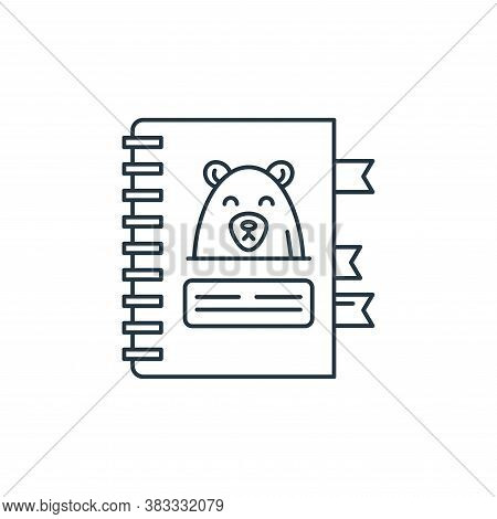 notebook icon isolated on white background from kids collection. notebook icon trendy and modern not