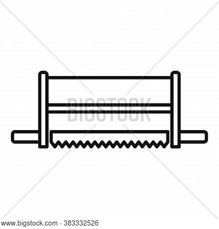 Frame Saw Icon. Outline Frame Saw Vector Icon For Web Design Isolated On White Background