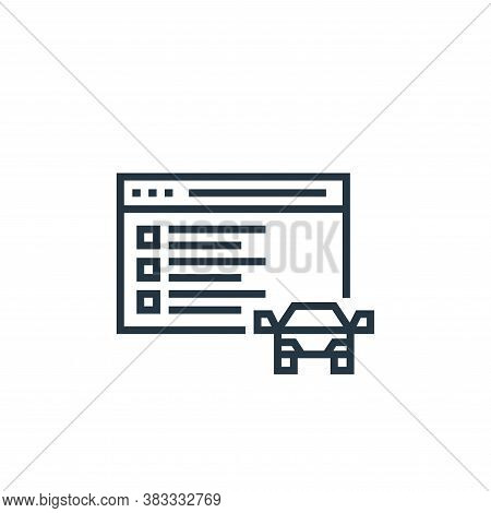 online driving test icon isolated on white background from driving school collection. online driving
