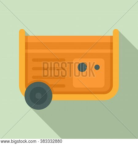 Diesel Generator Icon. Flat Illustration Of Diesel Generator Vector Icon For Web Design