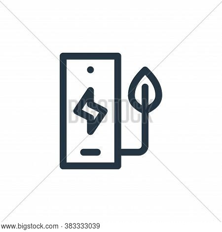 phone icon isolated on white background from sustainable energy collection. phone icon trendy and mo