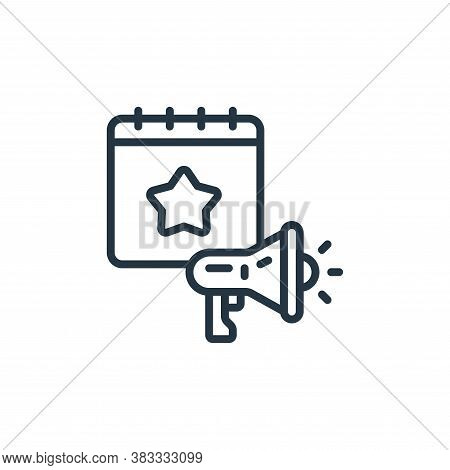 marketing icon isolated on white background from event management collection. marketing icon trendy