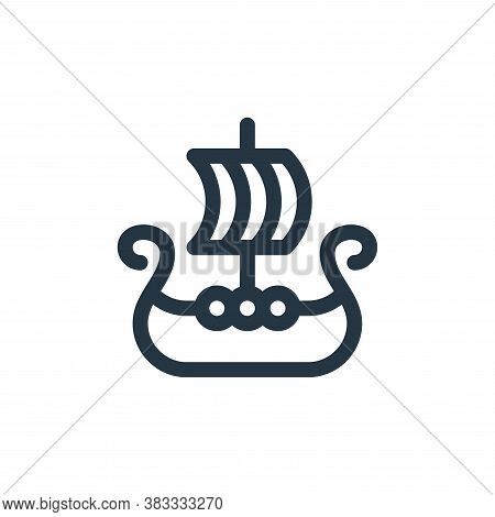 viking ship icon isolated on white background from videogame elements collection. viking ship icon t