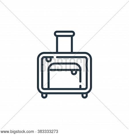 suitcase icon isolated on white background from aviation collection. suitcase icon trendy and modern