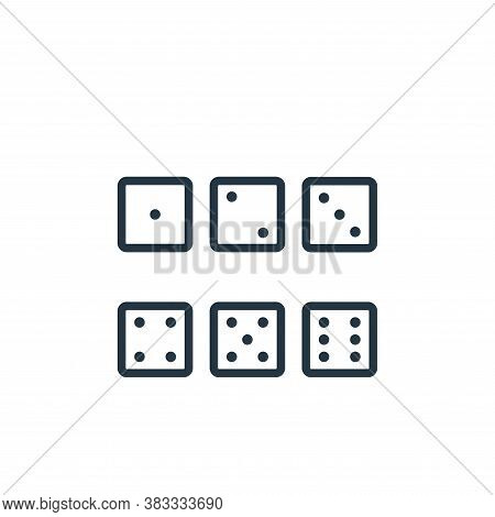 dice icon isolated on white background from sports collection. dice icon trendy and modern dice symb
