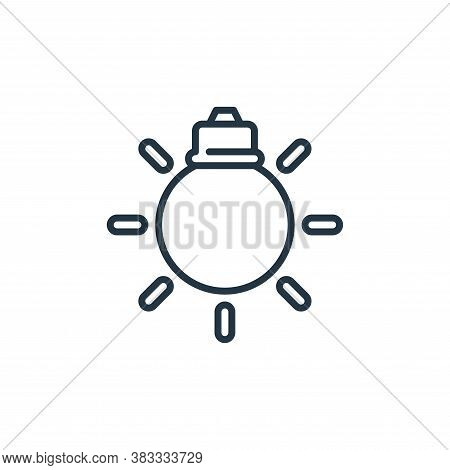 lightbulb icon isolated on white background from car engine collection. lightbulb icon trendy and mo