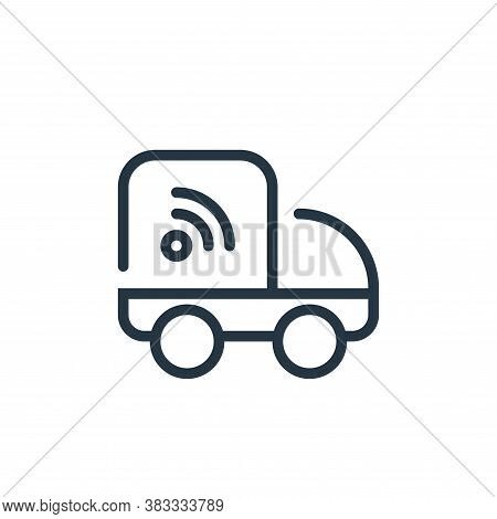 shipping icon isolated on white background from internet of things collection. shipping icon trendy