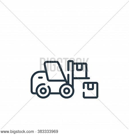 warehouse icon isolated on white background from supermarket collection. warehouse icon trendy and m