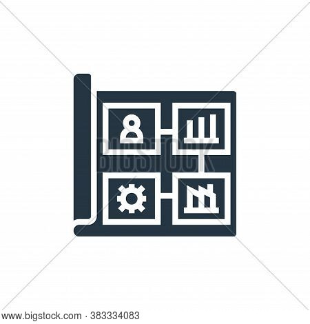 business plan icon isolated on white background from business model canvas collection. business plan