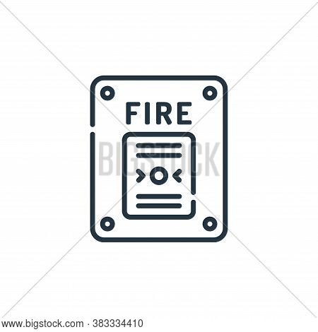 fire alarm icon isolated on white background from museum collection. fire alarm icon trendy and mode