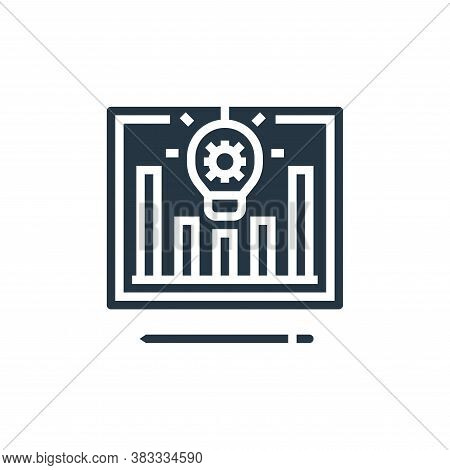 creative process icon isolated on white background from business model canvas collection. creative p