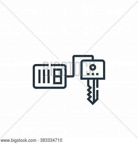 car key icon isolated on white background from driving school collection. car key icon trendy and mo