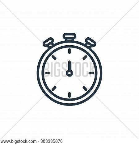 stopwatch icon isolated on white background from ecommerce and shopping collection. stopwatch icon t