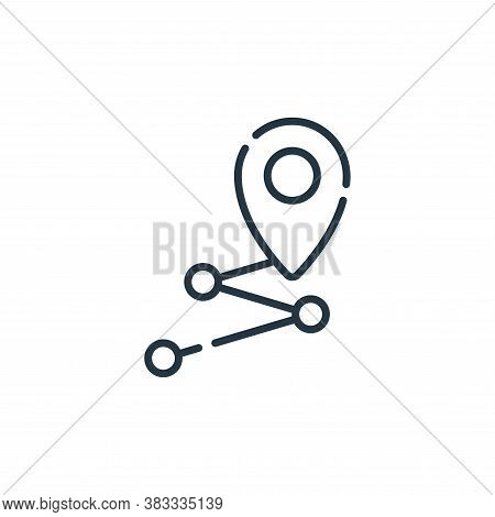destination icon isolated on white background from location collection. destination icon trendy and