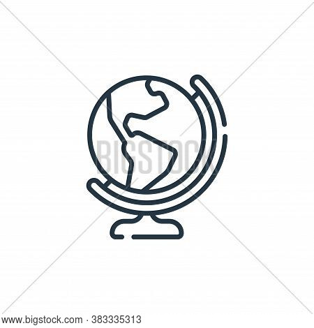 globe icon isolated on white background from location collection. globe icon trendy and modern globe