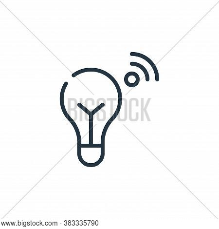 bulb icon isolated on white background from internet of things collection. bulb icon trendy and mode