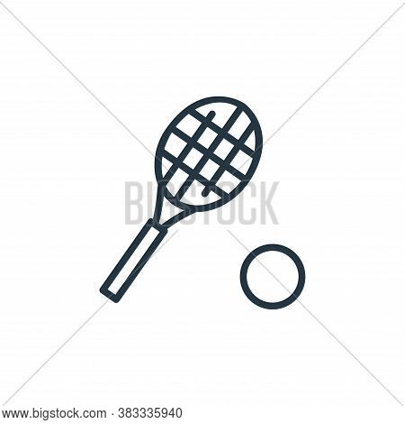 tennis racket icon isolated on white background from sports collection. tennis racket icon trendy an