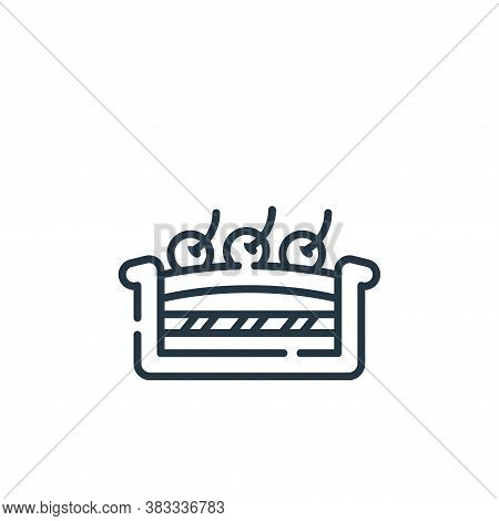 pie icon isolated on white background from sweets and candies collection. pie icon trendy and modern