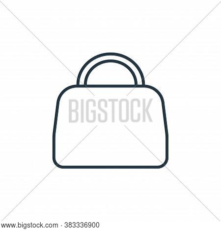 handbag icon isolated on white background from fashion collection. handbag icon trendy and modern ha