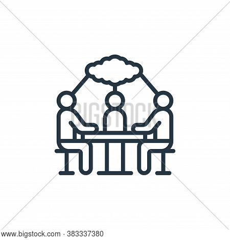 workshop icon isolated on white background from event management collection. workshop icon trendy an