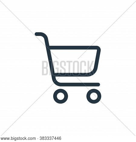 cart icon isolated on white background from ecommerce and shopping collection. cart icon trendy and