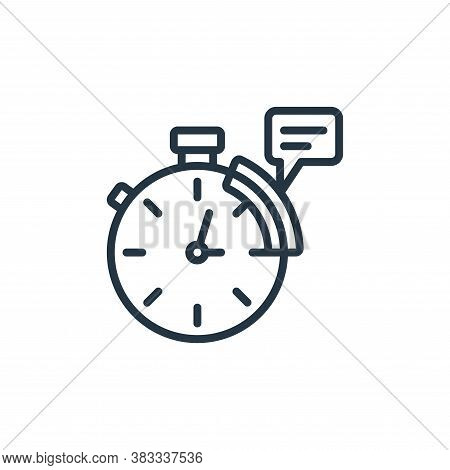 time icon isolated on white background from event management collection. time icon trendy and modern