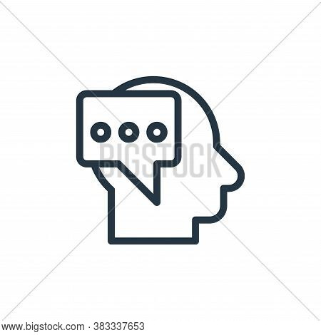 thinking icon isolated on white background from marketing seo business collection. thinking icon tre