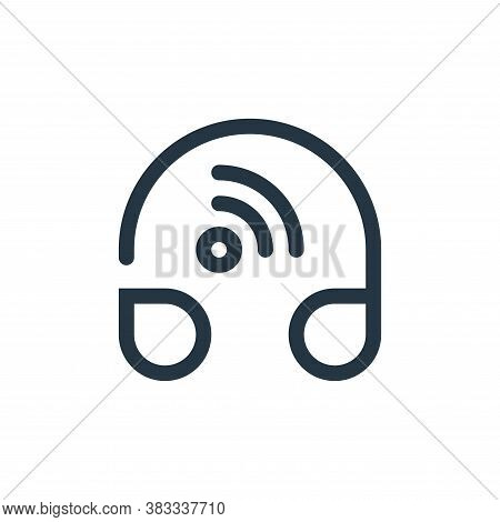 headphone icon isolated on white background from internet of things collection. headphone icon trend