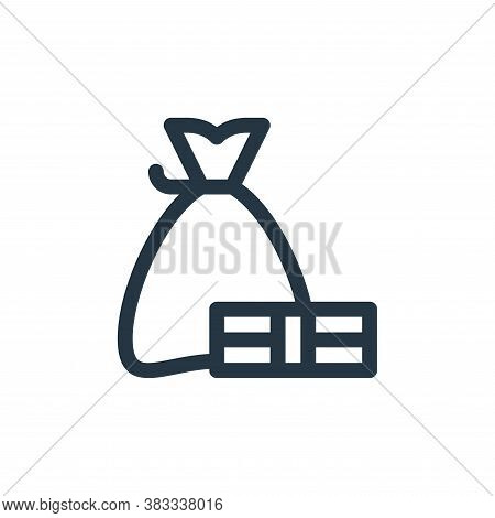 money bag icon isolated on white background from investment collection. money bag icon trendy and mo