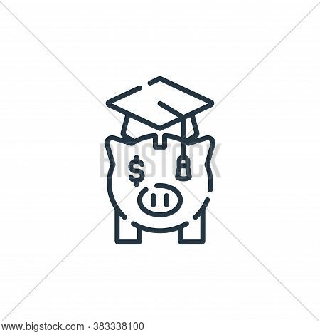 savings icon isolated on white background from education collection. savings icon trendy and modern