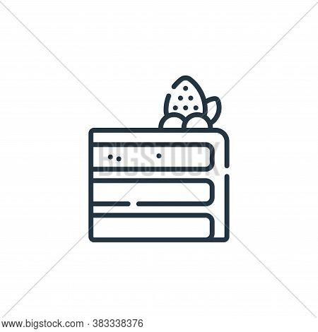 cake slice icon isolated on white background from sweets and candies collection. cake slice icon tre