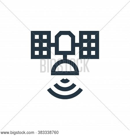 satellite icon isolated on white background from wireless technology collection. satellite icon tren