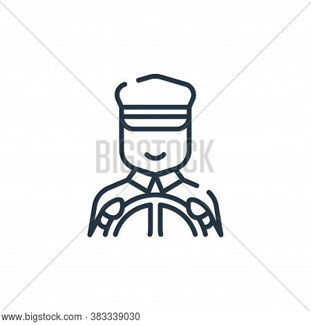 driver icon isolated on white background from public transportation collection. driver icon trendy a