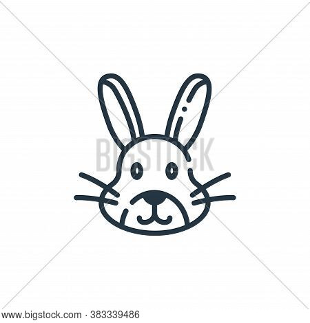 rabbit icon isolated on white background from easter collection. rabbit icon trendy and modern rabbi