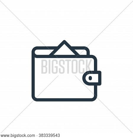 wallet icon isolated on white background from ecommerce and shopping collection. wallet icon trendy