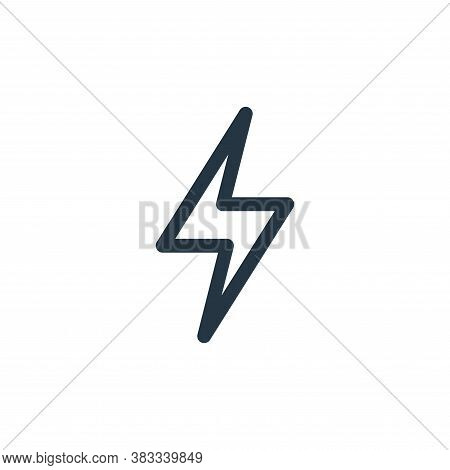 thunder icon isolated on white background from videogame elements collection. thunder icon trendy an