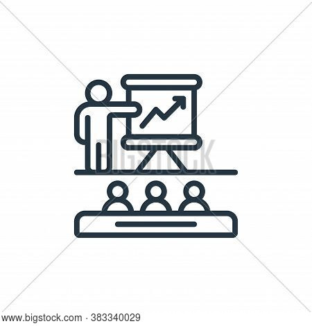 training icon isolated on white background from event management collection. training icon trendy an