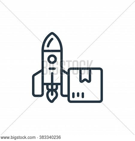 product lauch icon isolated on white background from event management collection. product lauch icon