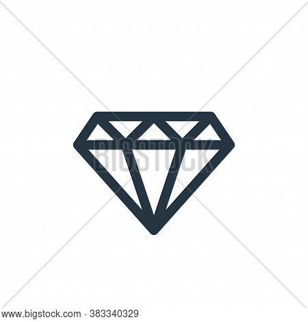 diamond icon isolated on white background from videogame elements collection. diamond icon trendy an