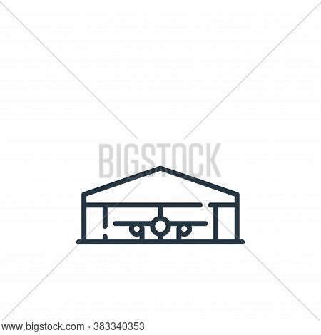 hangar icon isolated on white background from aviation collection. hangar icon trendy and modern han
