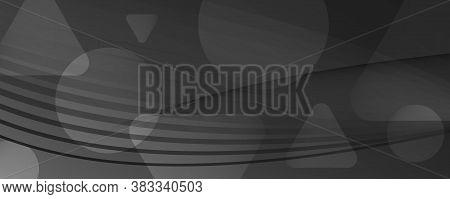 Black Digital Background. Flow Abstract Elements. Color Dynamic Shapes. Business Digital Background.