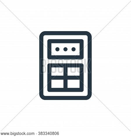 calculator icon isolated on white background from investment collection. calculator icon trendy and