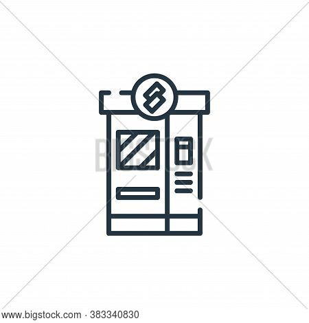 ticket machine icon isolated on white background from public transportation collection. ticket machi
