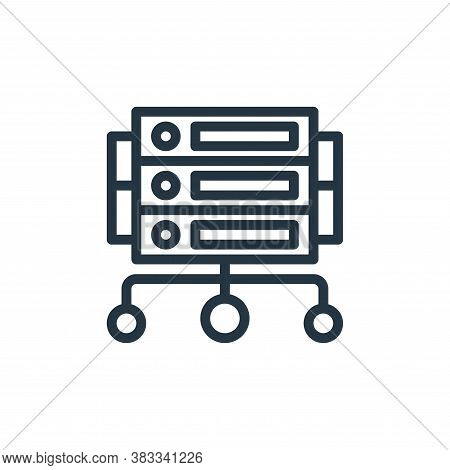 server icon isolated on white background from marketing seo business collection. server icon trendy