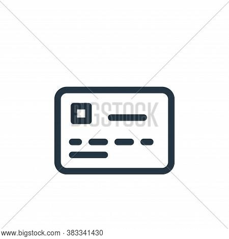 debit card icon isolated on white background from business collection. debit card icon trendy and mo
