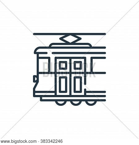 tram icon isolated on white background from public transportation collection. tram icon trendy and m