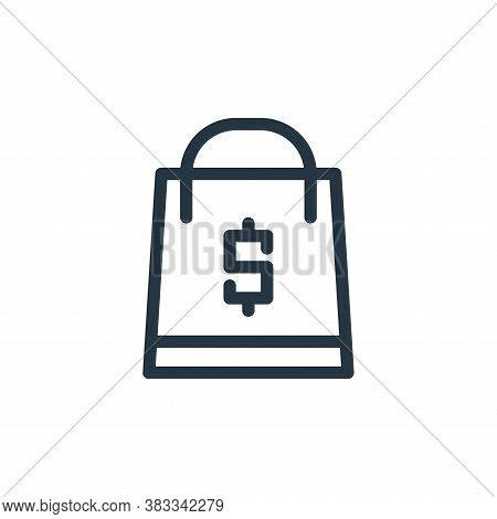 handbag icon isolated on white background from business collection. handbag icon trendy and modern h