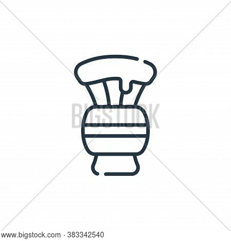 shaving brush icon isolated on white background from barber shop collection. shaving brush icon tren